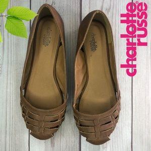 Charlotte Russe Tan Flats Size 8